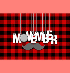 the word movember hang on the ropes vector image