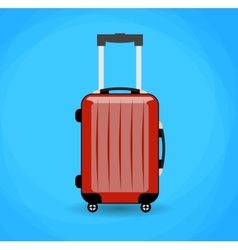 Travel bag isolated on background vector
