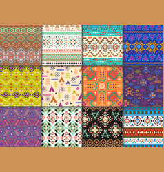 tribal seamless pattern ethnic texture with vector image