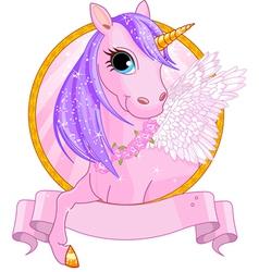 Unicorn sign vector image vector image