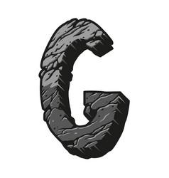 Vintage letter g desert design template vector