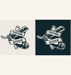 vintage tattoo studio print vector image