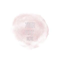 watercolor soft pink circle vector image