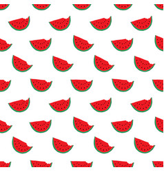 watermelon seamless pattern hand drawn vector image