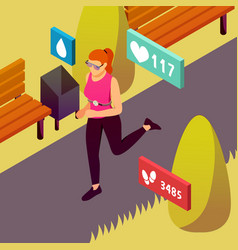Wearable sport devices isometric vector