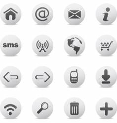 web icons round vector image