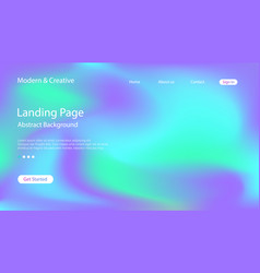 website landing page template vector image
