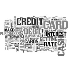 when not to use a credit card text word cloud vector image