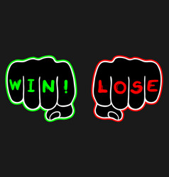win and lose vector image