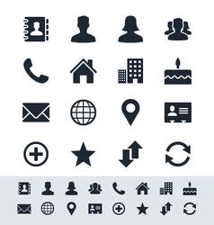 Contact icon set simplicity theme vector image vector image