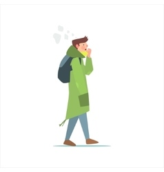 Guy In Green Parka vector image vector image