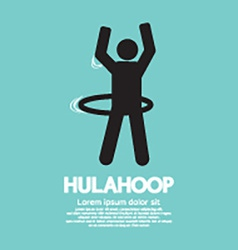 Human Playing A Hulahoop Symbol vector image vector image