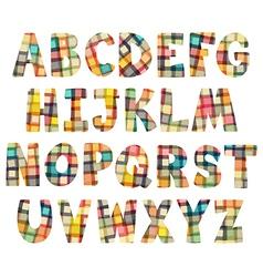 Mosaic cartoon alphabet vector image vector image