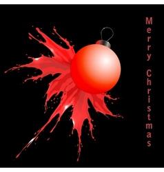 Red chistrmas decoration splash vector image