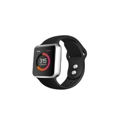 Silver smart fitness watch vector image