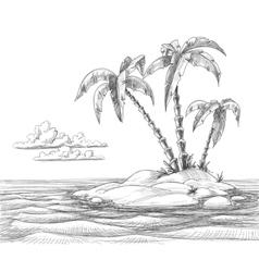 Tropical island sketch vector image vector image
