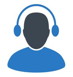 audio operator flat icon vector image