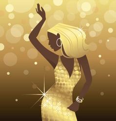 Dancing Diva vector image vector image