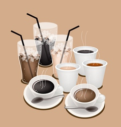 Hot Iced Coffee Background vector image vector image