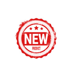 new product stamp red ink badge isolated sticker vector image