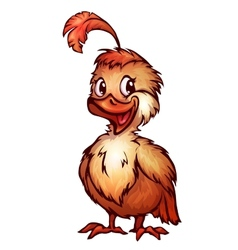 quail in cartoon style vector image