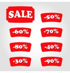Discount labels vector image vector image