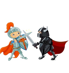 Fighting Knights vector image vector image