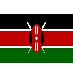 Flag of kenya in correct proportions and colors vector