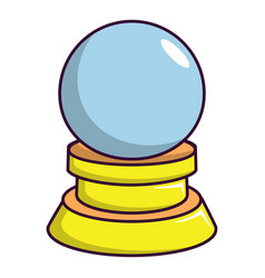 magic crystal ball icon cartoon style vector image vector image