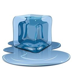 Melting ice cube vector