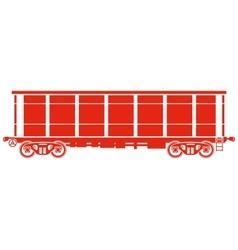 Open Railway freight car - vector image vector image