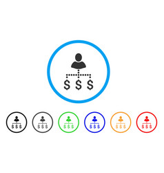 person payments rounded icon vector image