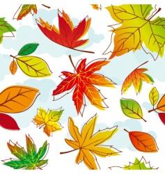 autumn leave vector image