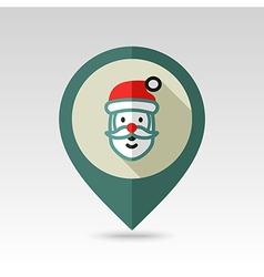 Santa Claus face Christmas pin map icon vector image vector image