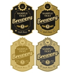 set of labels for beer and brawary vector image vector image