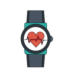 Smartwatch hearbeat technology vector