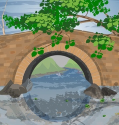 Tree arch bridges vector