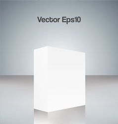 White cube vector image