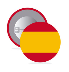 white round pin with flag of spain vector image vector image