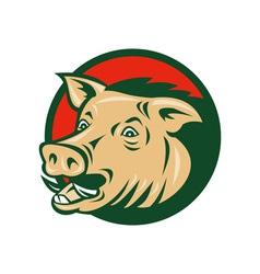 wild boar or razorback vector image vector image