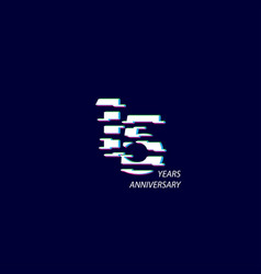 15 years anniversary celebration number template vector