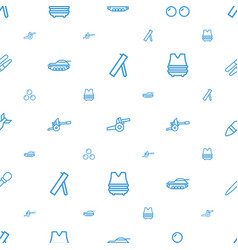 Army icons pattern seamless white background vector