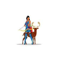 Artemis sign mythological greek goddess vector