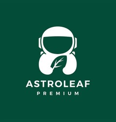 Astronaut leaf logo icon vector