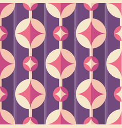background with stars in circles mid-century vector image