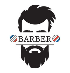 barber shop vintage retro label logo icon vector image