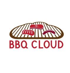 bbq cloud concept design template vector image