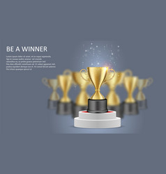 Be a winner poster web banner template vector