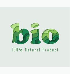 Bio paper cut concept vector
