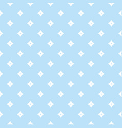 Blue geometric seamless pattern with small stars vector